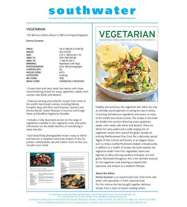 Vegetarian. 150 delicious dishes