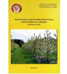Формування та обрізування дерев черешні в інтенсивних насадженнях